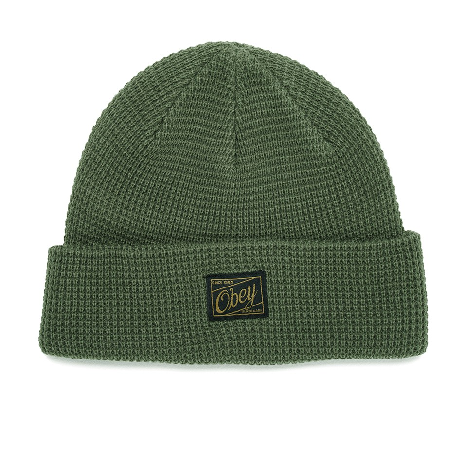 obey-clothing-men-roscoe-waffle-knitted-beanie-army