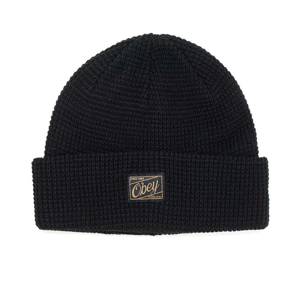 obey-clothing-men-roscoe-waffle-knitted-beanie-black