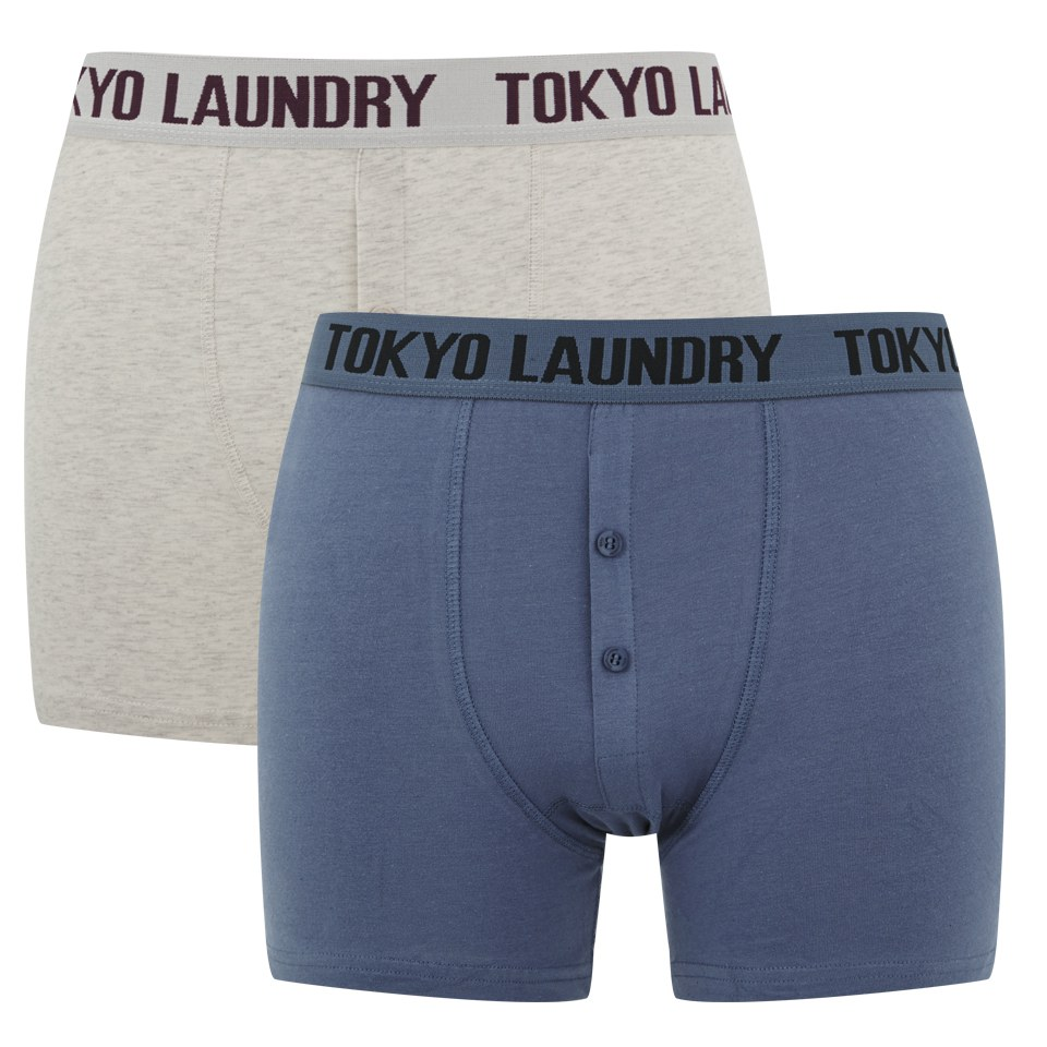 tokyo-laundry-men-2-pack-button-fly-boxers-indigooat-grey-marl-s