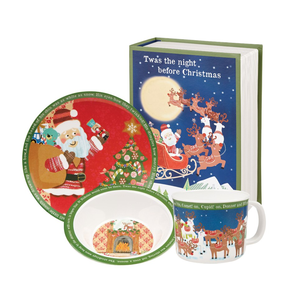 little-rhymes-twas-the-night-before-christmas-kids-melamine-plate-set-of-4
