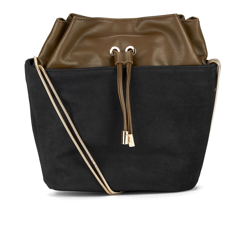 french-connection-women-fashion-bucket-bag-black-olive-lime-yellow