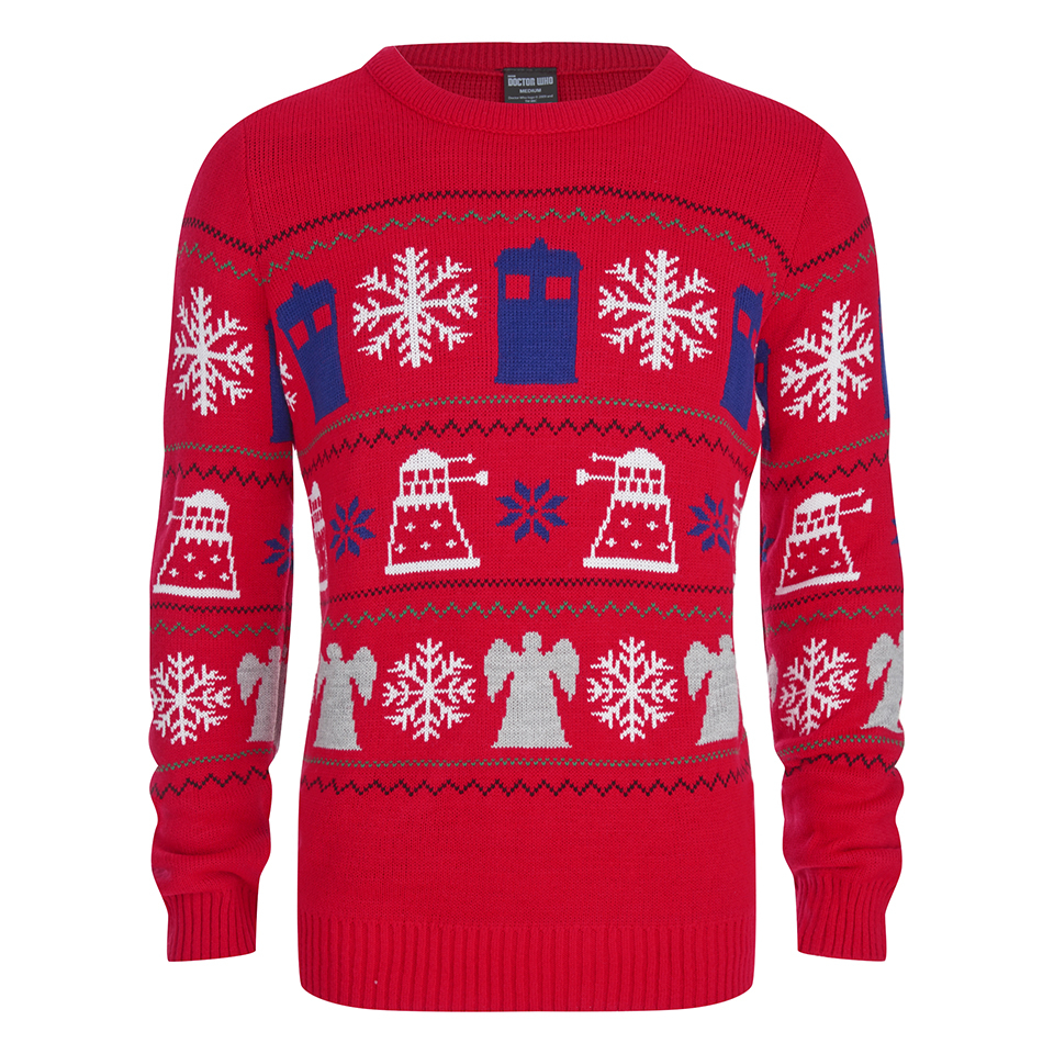 doctor-who-dalek-snowflake-christmas-jumper-red-l
