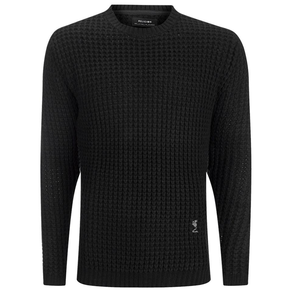 religion-men-morgan-long-knitted-jumper-black-s