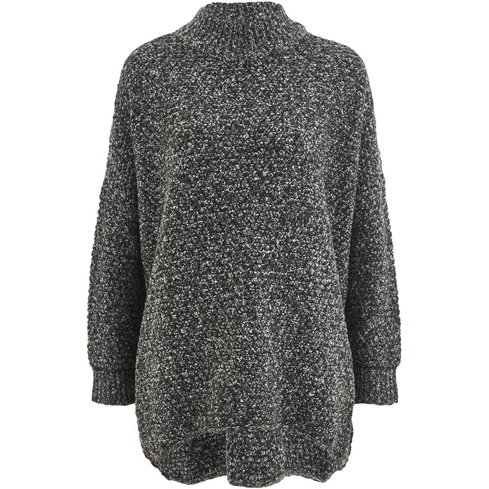selected-femme-women-erica-knitted-pullover-dark-grey-melange-xs-6
