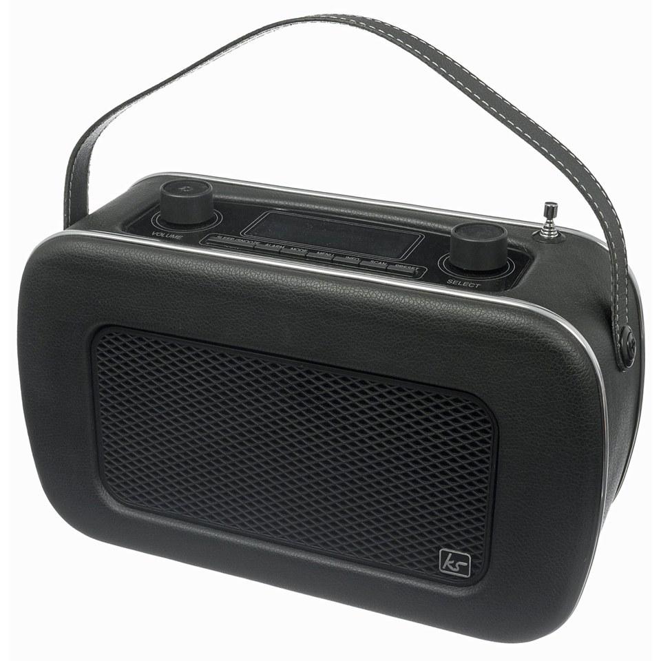 kitsound-jive-retro-portable-dab-radio-with-alarm-clock-black