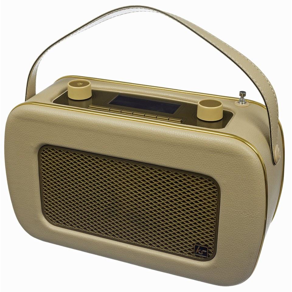 kitsound-jive-retro-portable-dab-radio-with-alarm-clock-cream-gold