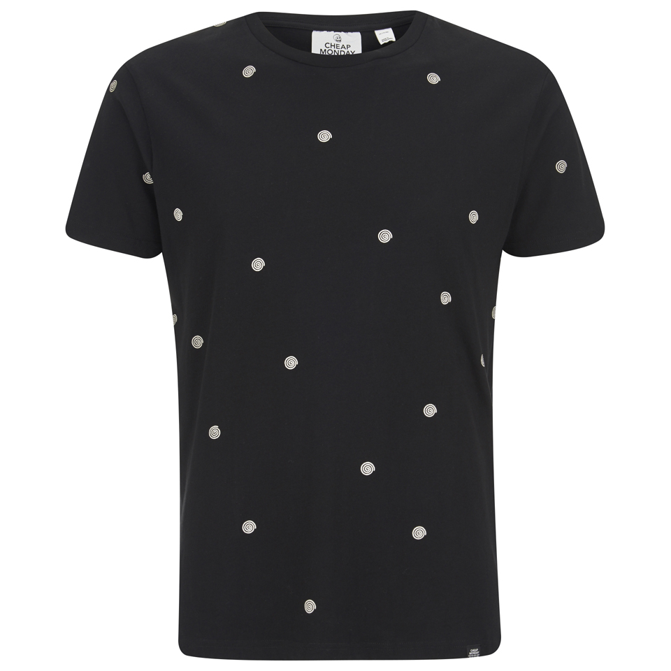 cheap-monday-men-standard-t-shirt-spiral-dot-black-xs