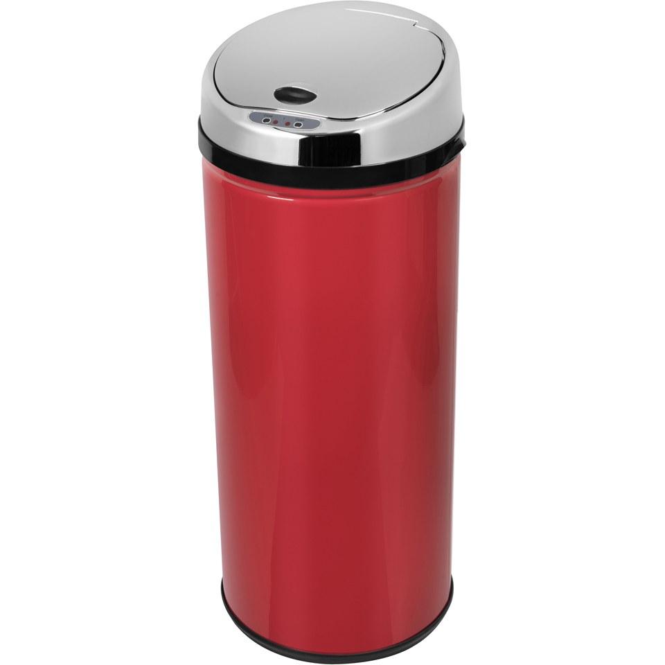 morphy-richards-971511mo-round-sensor-bin-red-42l