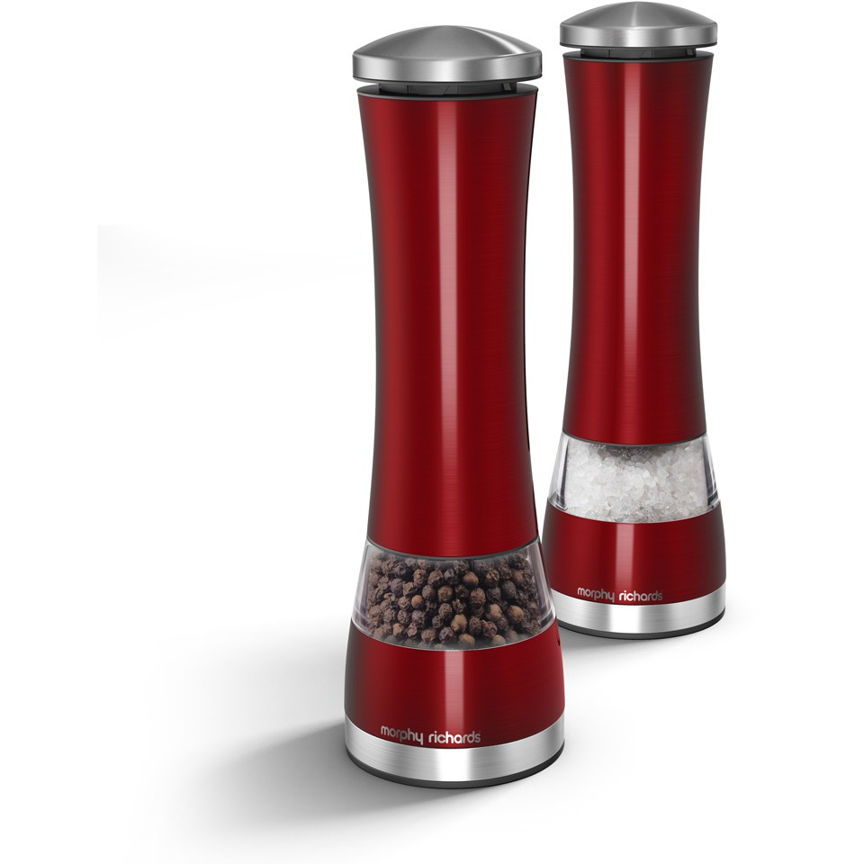 morphy-richards-electronic-salt-pepper-mill-red