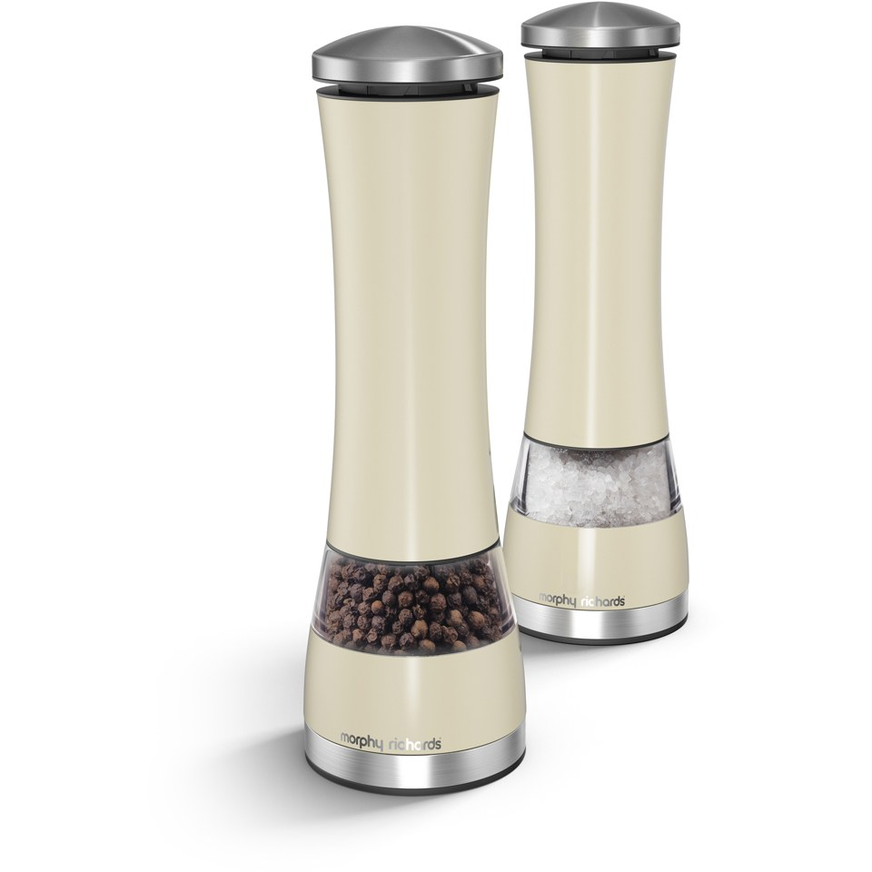 morphy-richards-electronic-salt-pepper-mill-cream