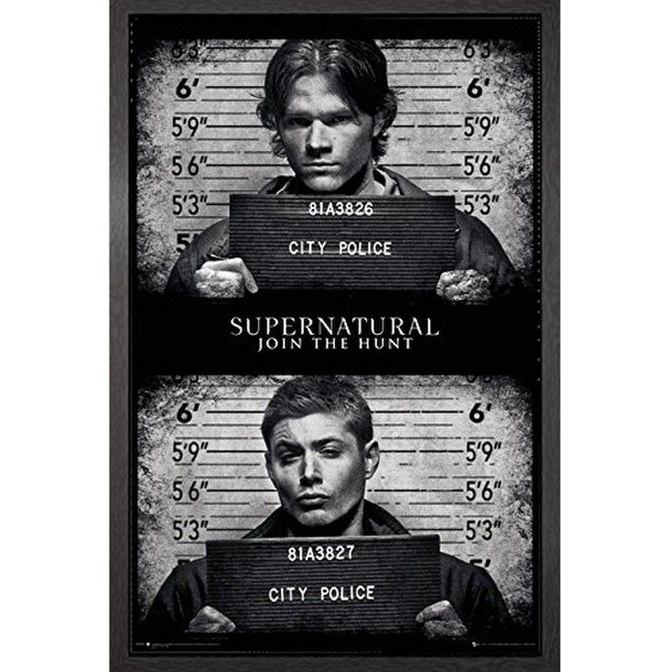 supernatural-mug-shots-framed-maxi-poster