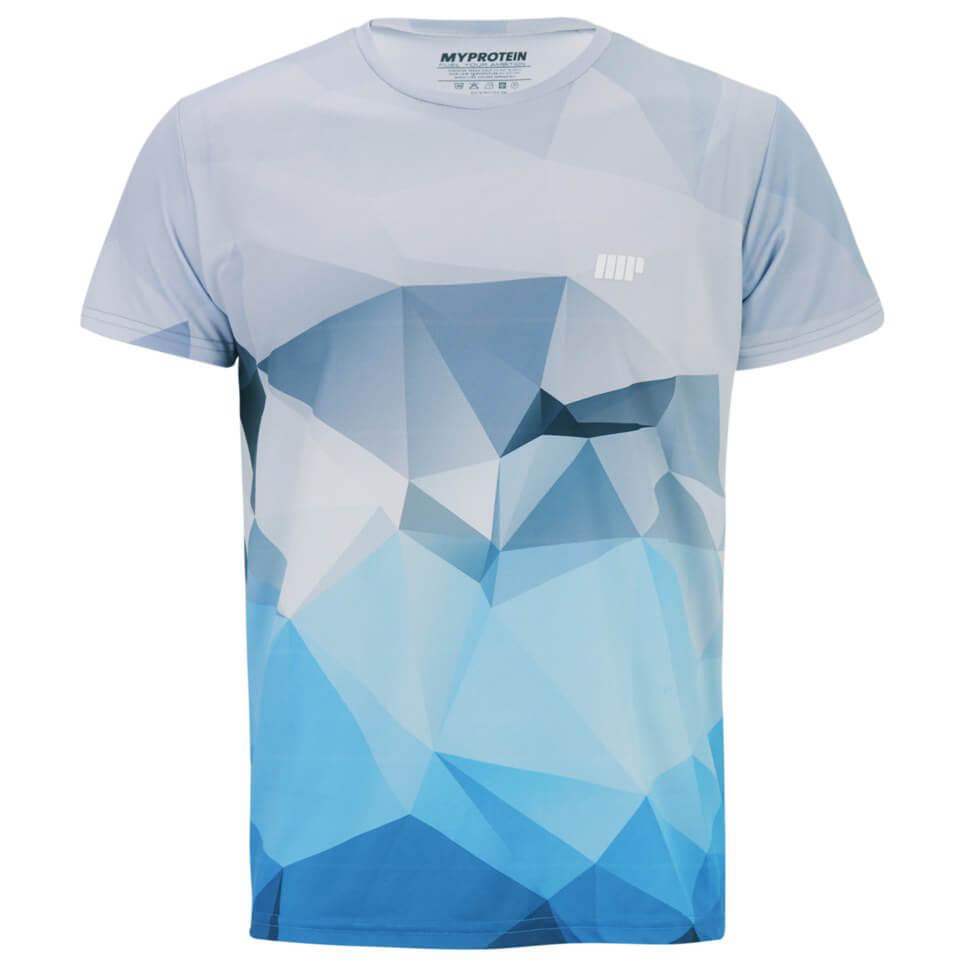 Image of Myprotein Men's Geometric Printed Training Shirt - Light Blue - L - Blue