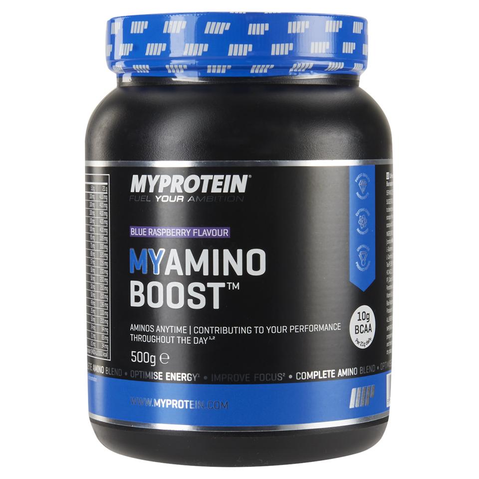 Foto MyAmino Boost, Blue Raspberry, 500g Myprotein