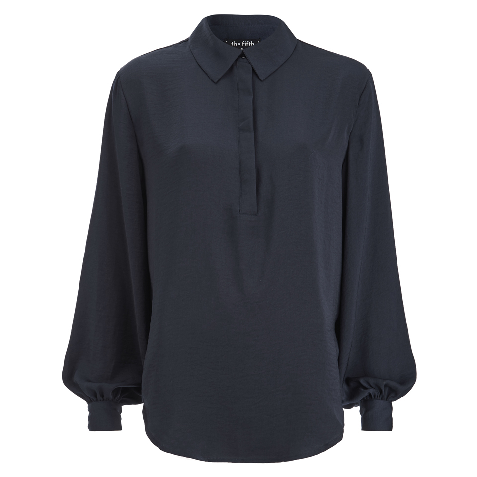 the-fifth-label-women-stay-a-while-long-sleeve-shirt-petrol-blue-s