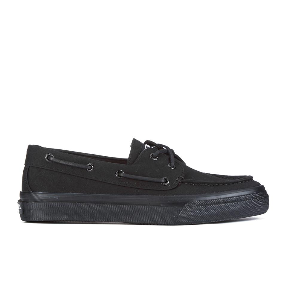 sperry s bahama 2 eye boat shoes black black mens