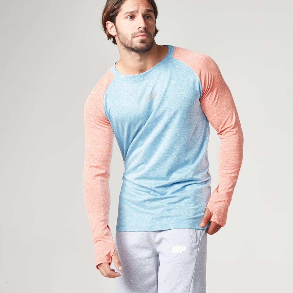 Foto Myprotein Men's Long Sleeve Loose Fit Training Top - Blue & Orange - M