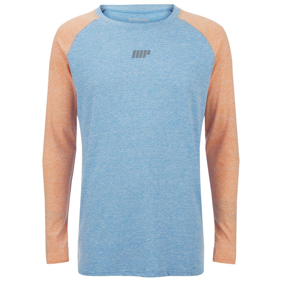 Foto Myprotein Men's Long Sleeve Loose Fit Training Top - Blue & Orange - M