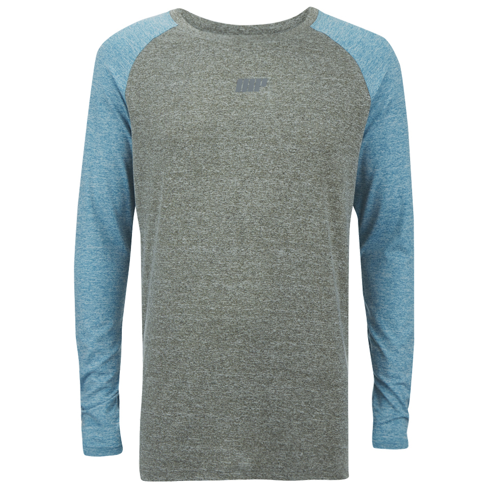 Foto Myprotein Men's Long Sleeve Loose Fit Training Top - Grey & Blue - M