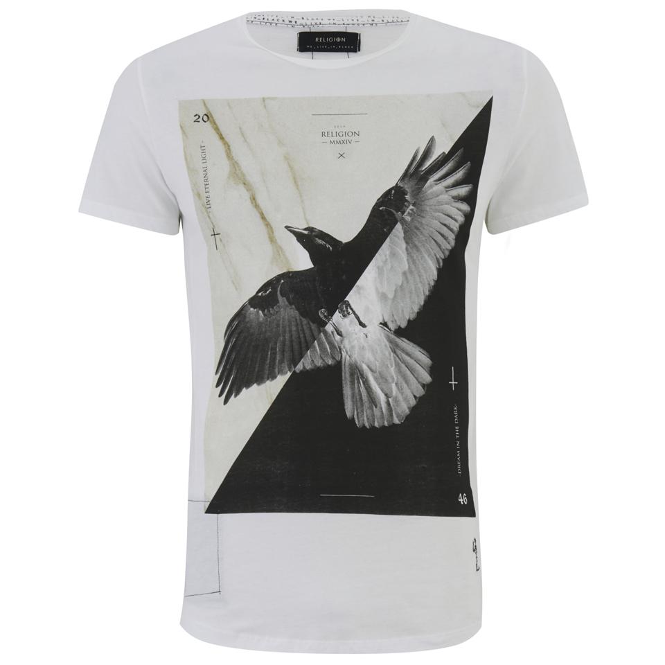 religion-men-bird-print-crew-neck-t-shirt-white-xl