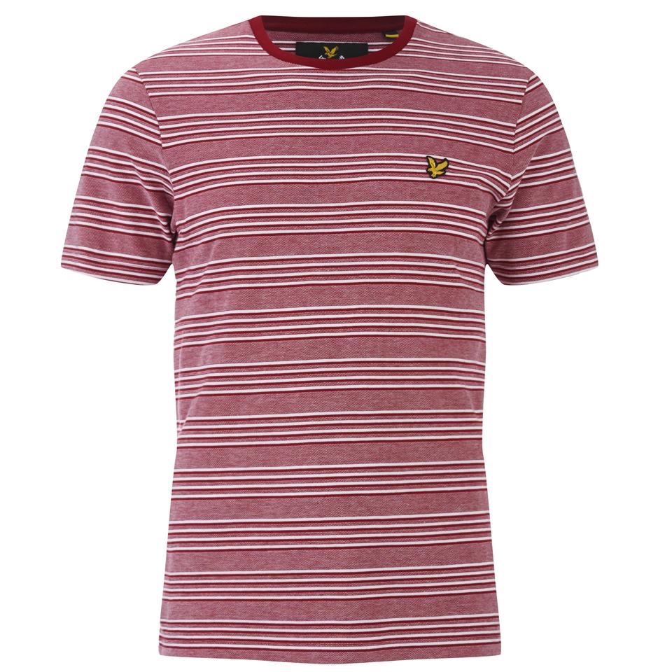 lyle-scott-vintage-men-crew-neck-oxford-stripe-t-shirt-ruby-m