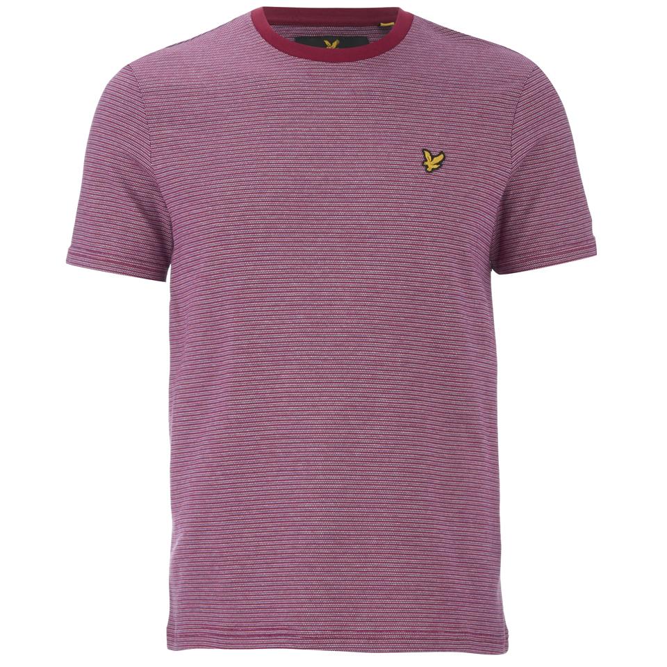 lyle-scott-vintage-men-crew-neck-birdseye-t-shirt-ruby-m