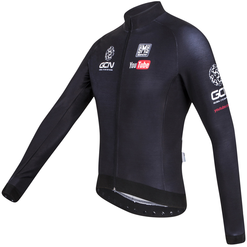 santini-gcn-sleek-h20-long-sleeve-jersey-black-m
