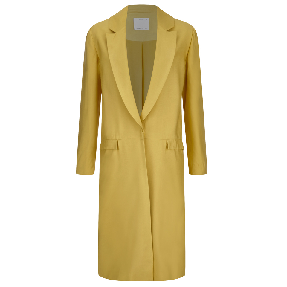 CMEO COLLECTIVE Womens Golden Age Trench Coat Gold