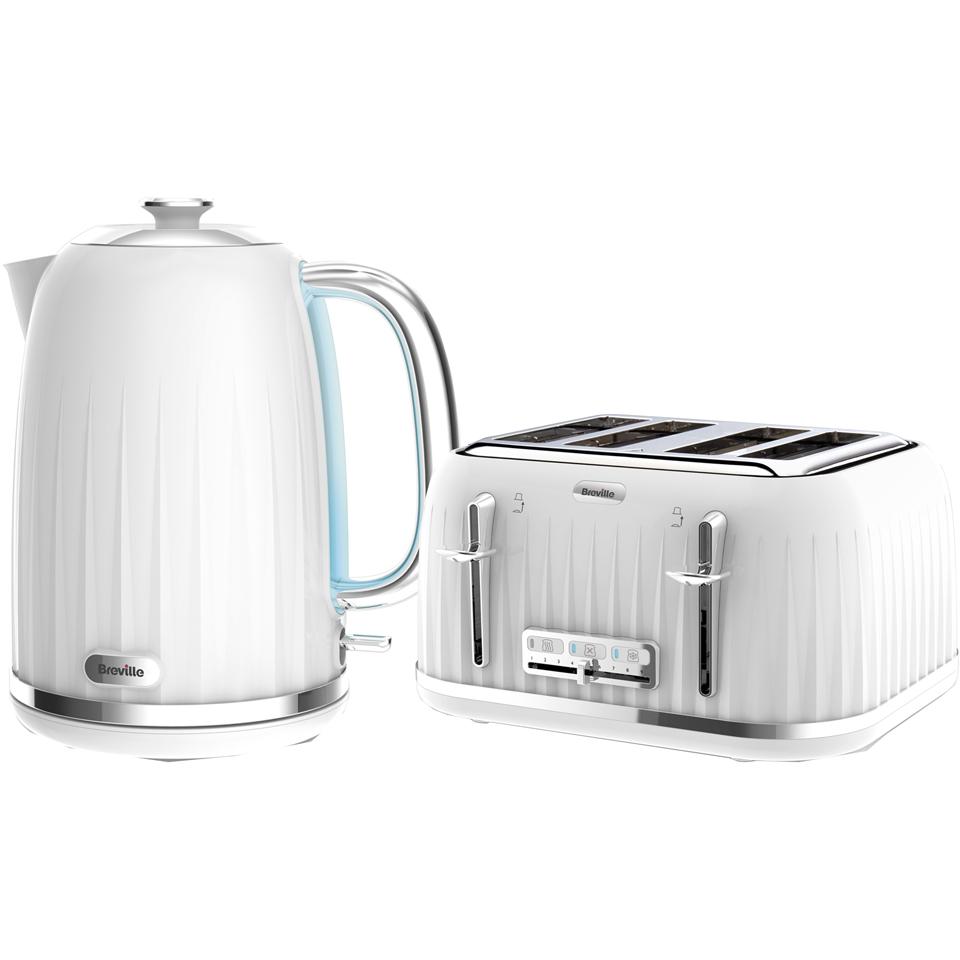 White brunch set kettle toaster coffee filter prezzo e for Kitchen set kettle toaster