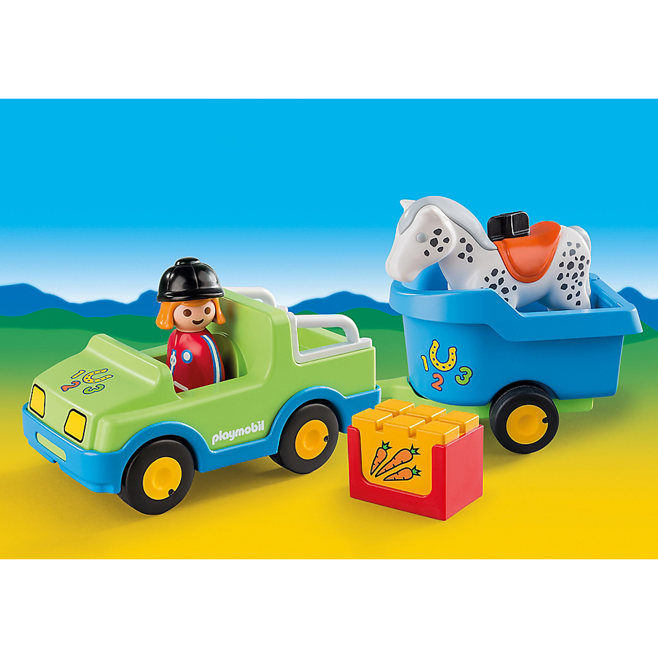playmobil-123-car-with-horse-trailer-6958
