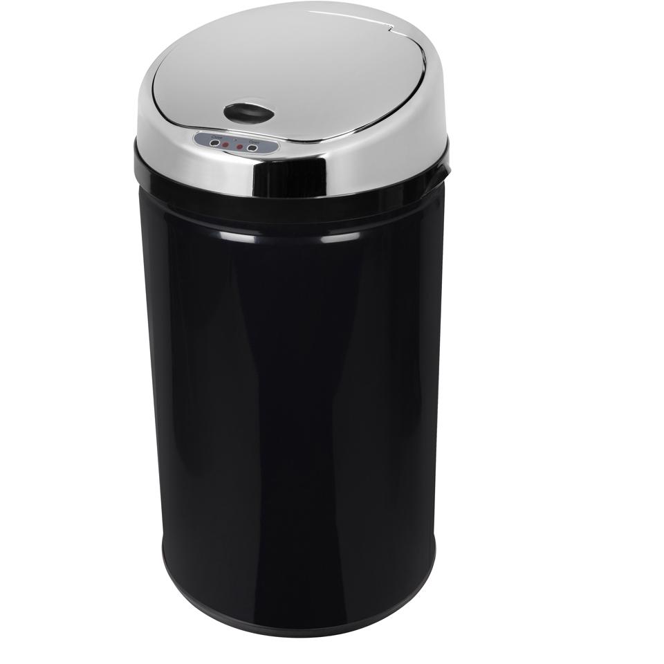 morphy-richards-971497mo-round-sensor-bin-black-30l