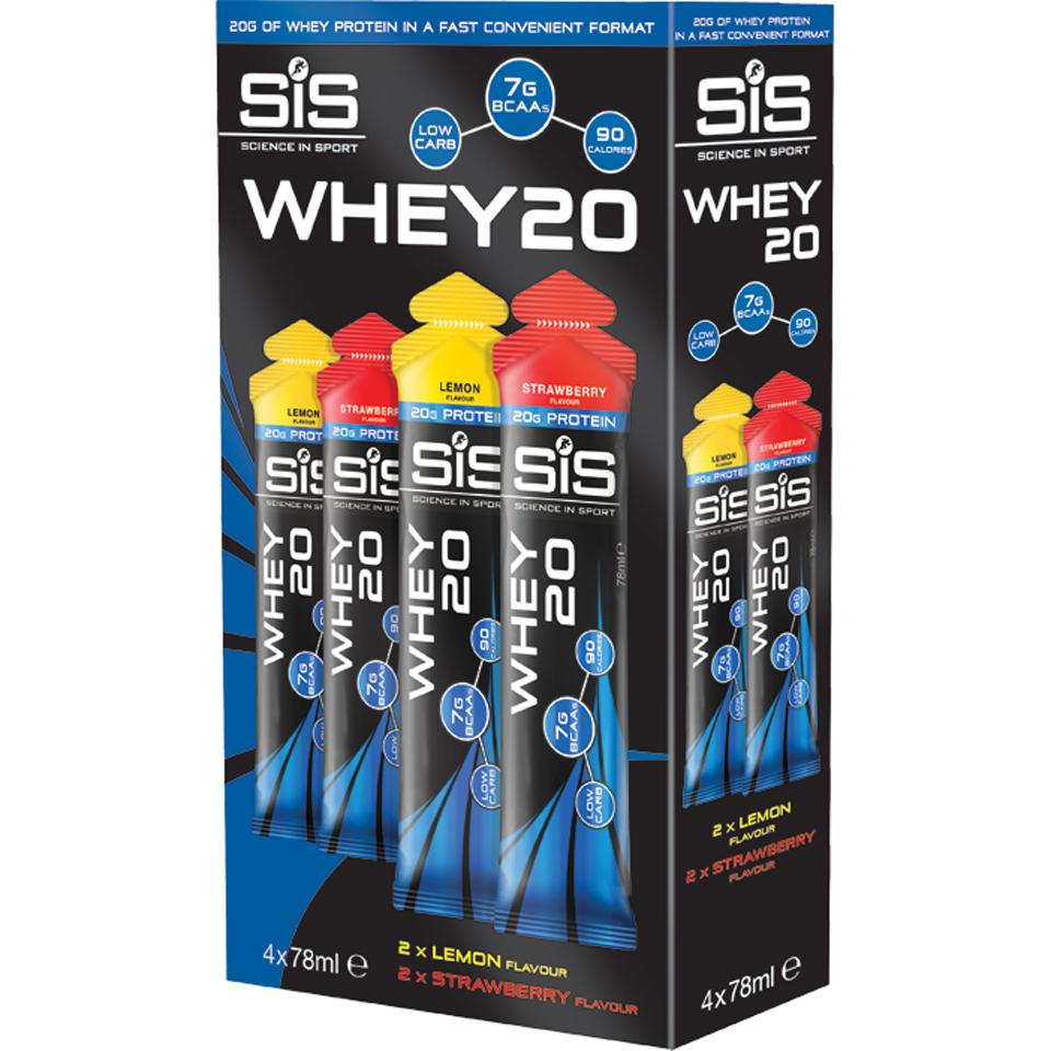 science-in-sport-whey20-4-pack-strawberry-lemon