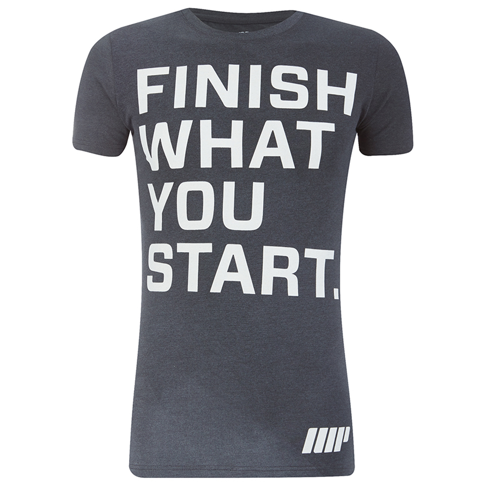 Foto Myprotein Men's Slogan T-Shirt - Charcoal - XXL