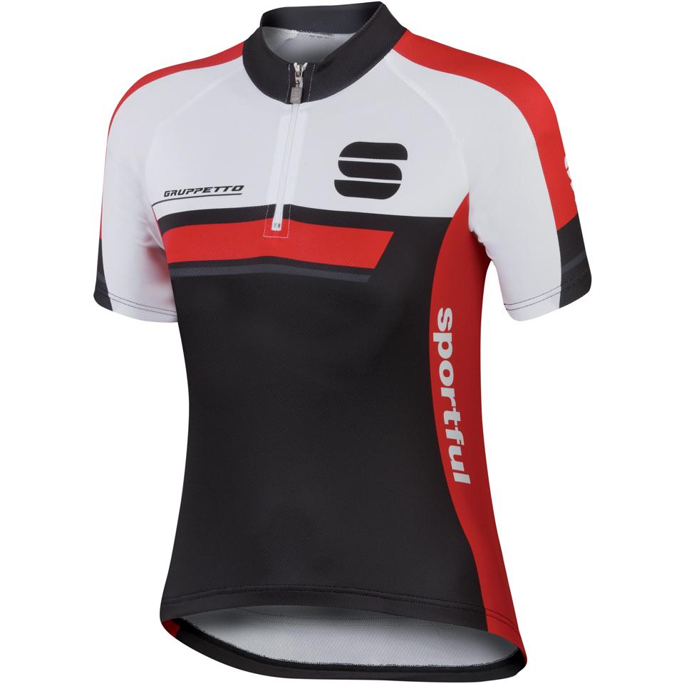 sportful-gruppetto-childrens-short-sleeve-jersey-blackred-8-years