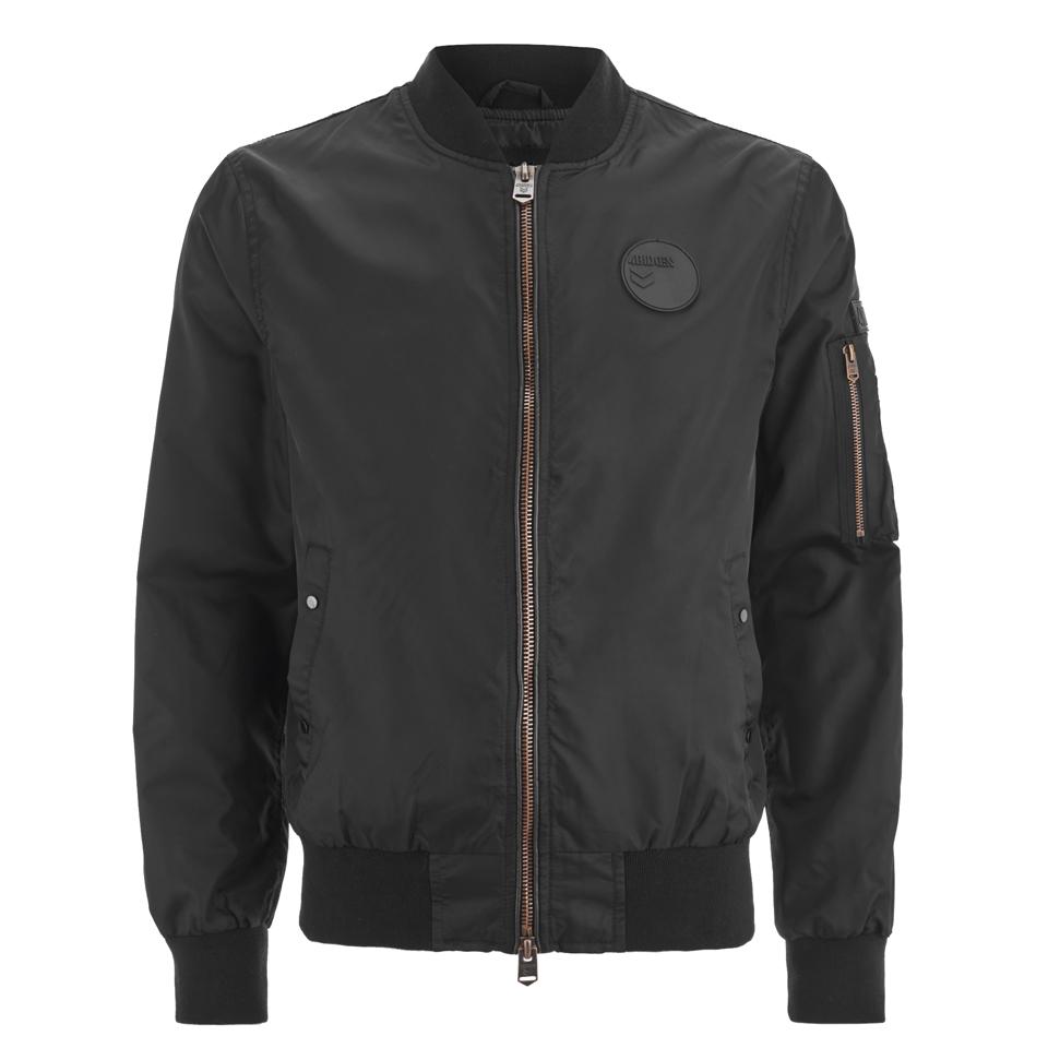 4bidden-men-radar-bomber-jacket-black-m