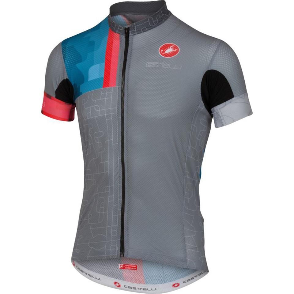castelli-rodeo-short-sleeve-jersey-grey-xl
