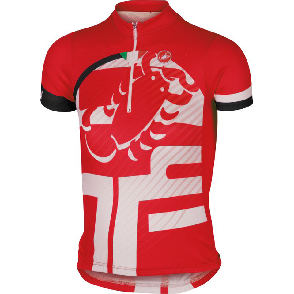 castelli-children-veleno-short-sleeve-jersey-red-10-years