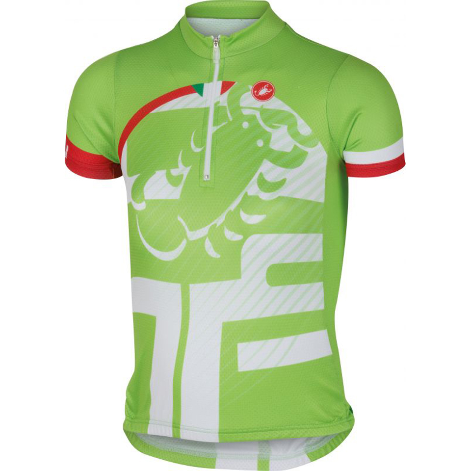 castelli-children-veleno-short-sleeve-jersey-green-8-years