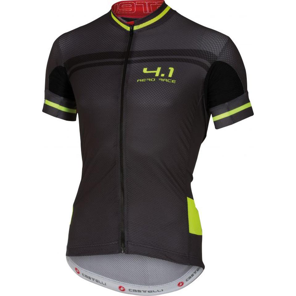 castelli-free-41-short-sleeve-jersey-blackyellow-l