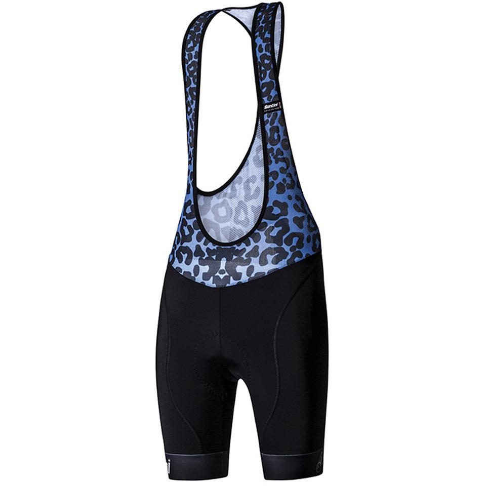 santini-gold-women-aero-bib-shorts-black-blue-m