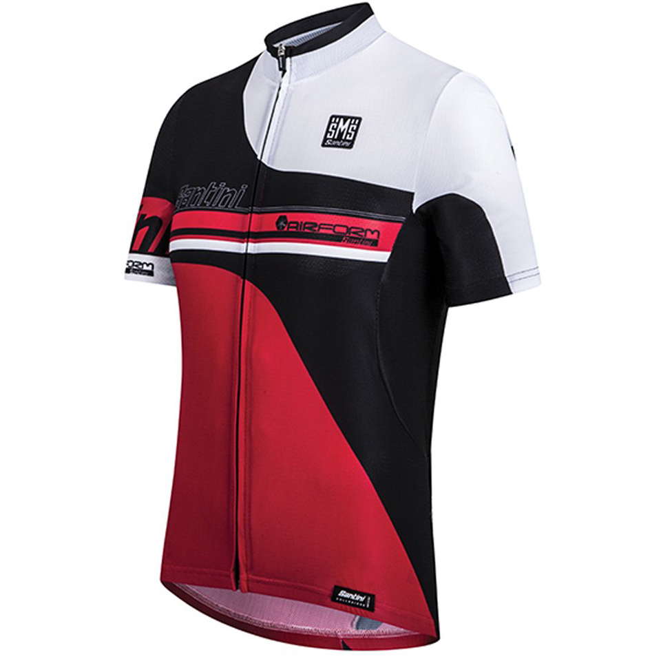 santini-air-form-short-sleeve-jersey-red-m