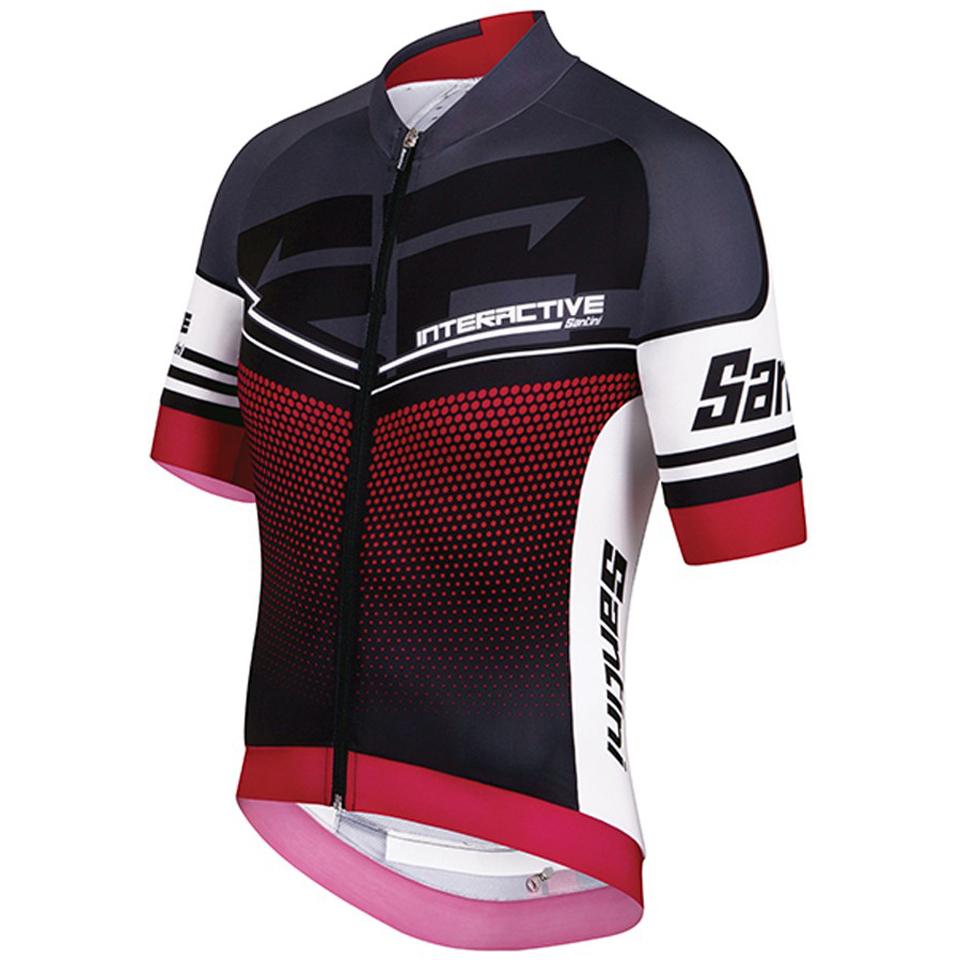 santini-interactive-30-short-sleeve-jersey-red-m