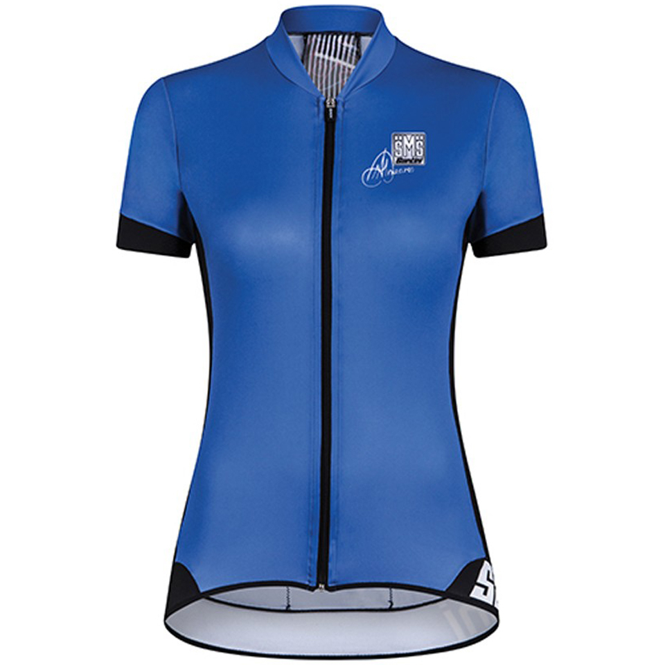 santini-gold-women-aero-short-sleeve-jersey-blue-l