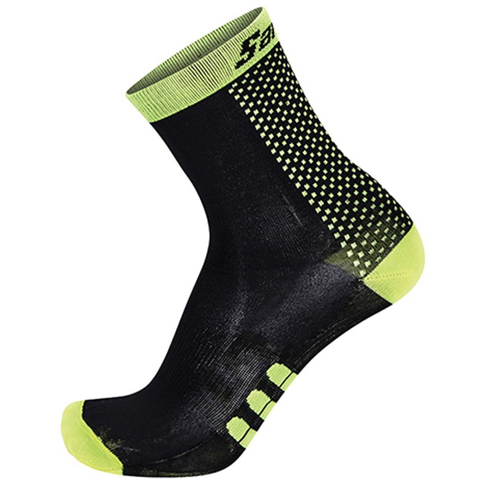 santini-two-medium-profile-socks-black-yellow-xs-s