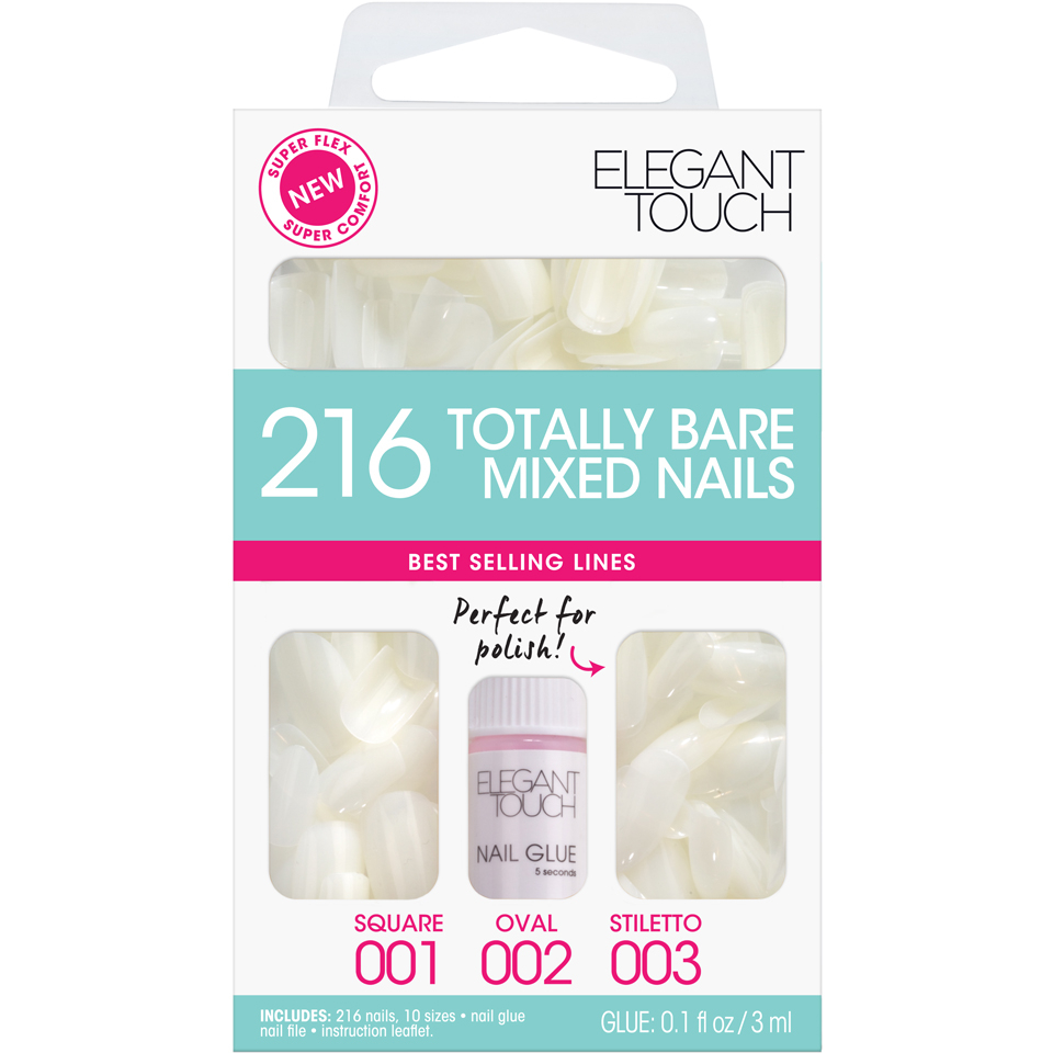 elegant-touch-totally-bare-nails-bumper-kit-regular-mixed-set-stiletto-oval-square