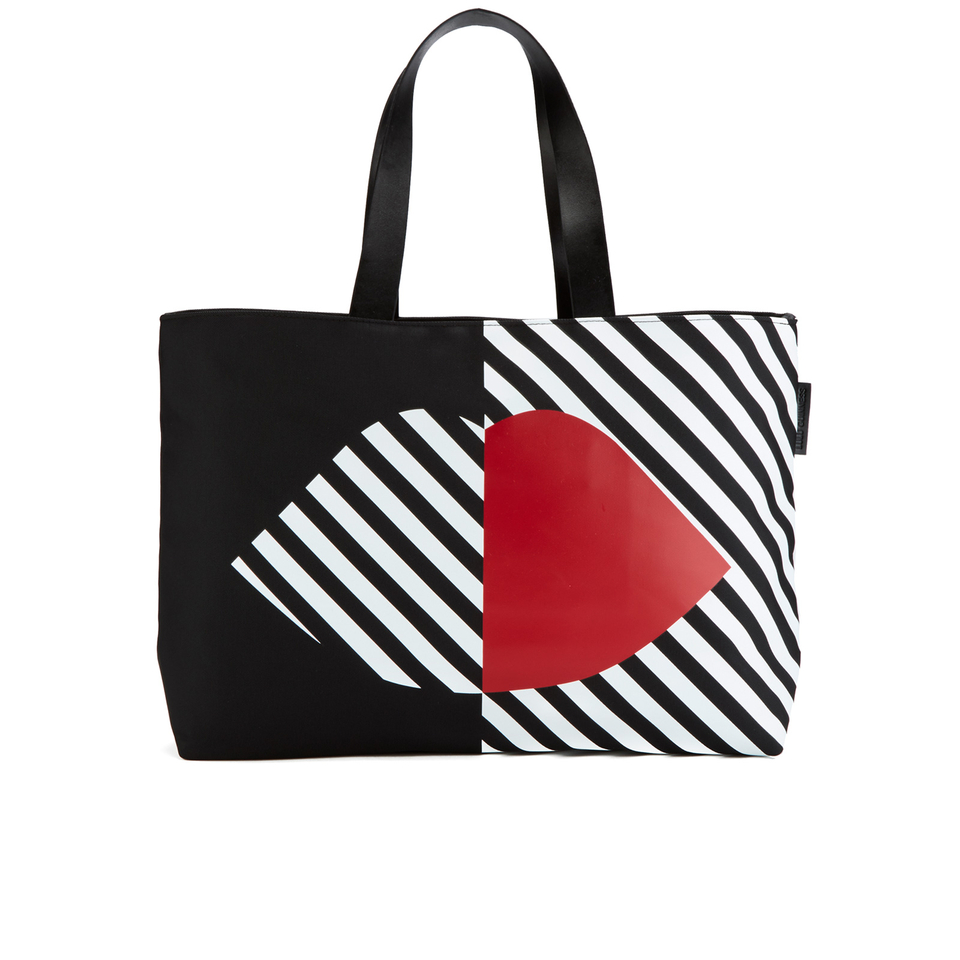 lulu-guinness-women-larysa-5050-lips-large-stripe-tote-bag-blackwhitered