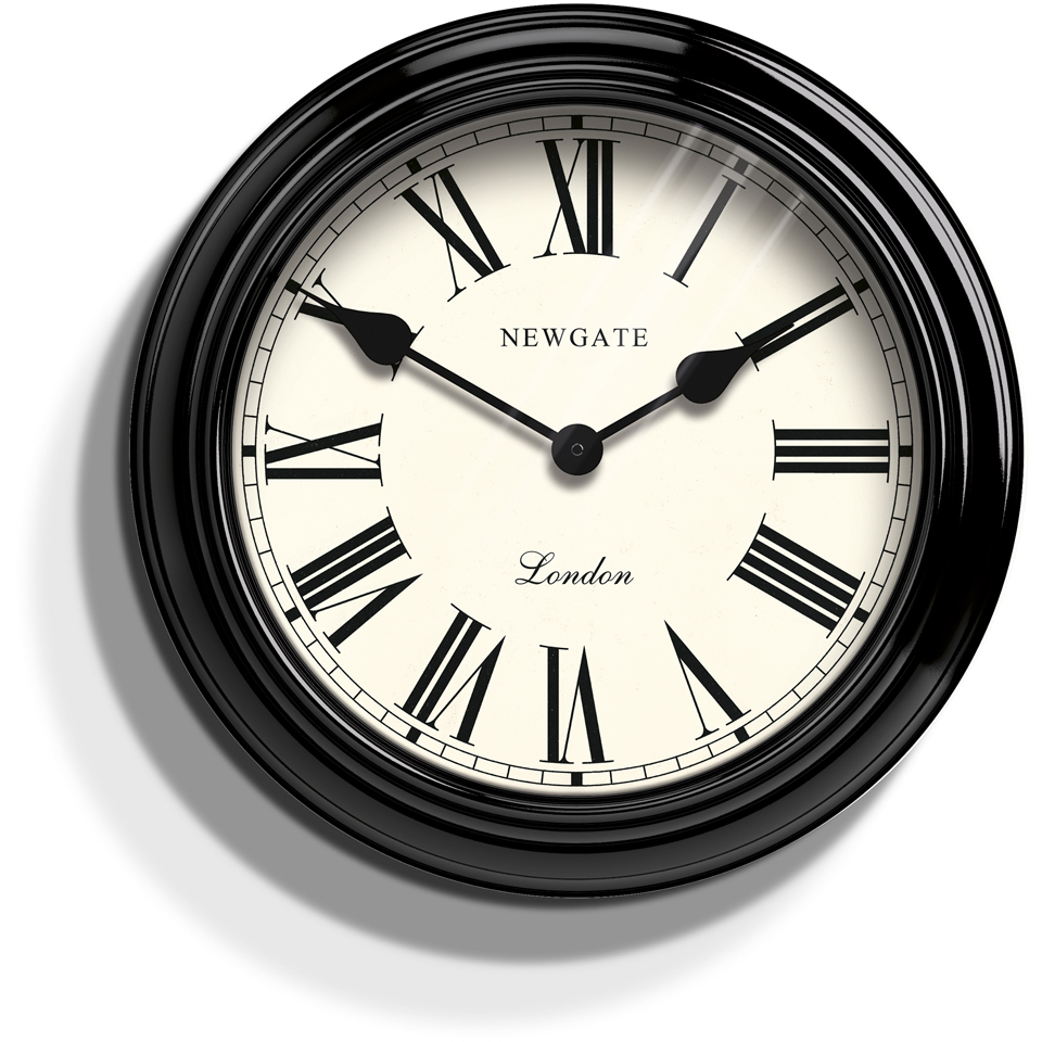 newgate-gallery-wall-clock-ebony-black