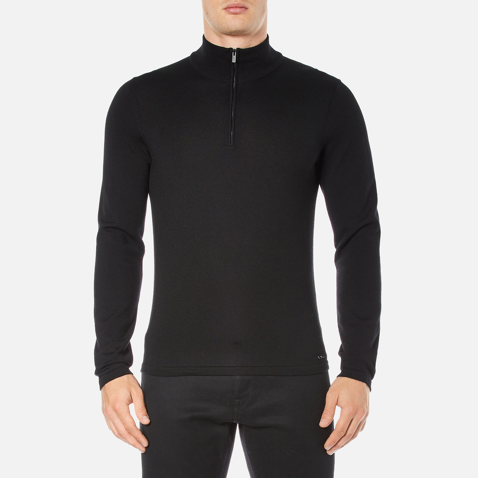hugo-men-san-gottardo-quarter-zip-jumper-black-s