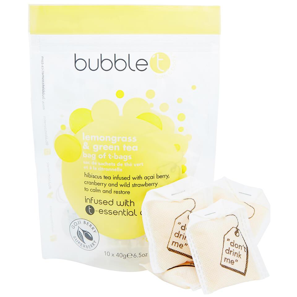 Köpa billiga Bubble T Bath Infusion T-Bags - Lemongrass & Green Tea 10 x 40g online