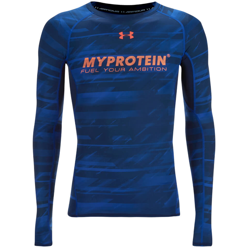Foto Under Armour Men's Heatgear Printed Compression Top - Blue - S