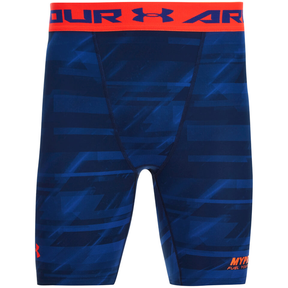 Foto Under Armour Men's Heatgear Printed Compression Shorts - Blue - M